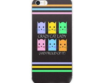 Crazy Cat Lady Bright Colors iPhone Case
