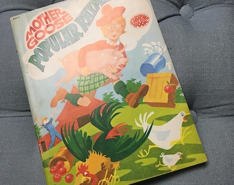 Vintage Mother Goose Popular Rhymes coloring book