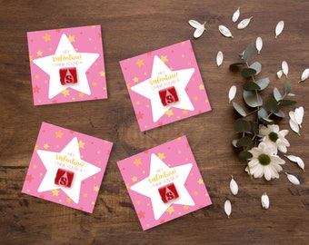 Cutie Starburst Valentines, Easy DIY Instant Download Printable Valentines for kids and their class parties