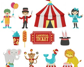 Machine Embroidery Designs - Circus Carnival Collection 12