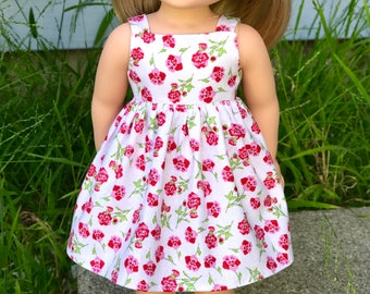 14.5  inch doll floral dress fit Wellie Wishers