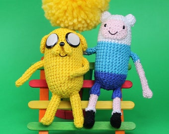 Finn Plush, Jake Plush, Finn Amigurumi, Jake Amigurumi, Adventure Time, Crochet Finn, Crochet Jake, Nerd Gift, Nerd Plush, Adventure Time