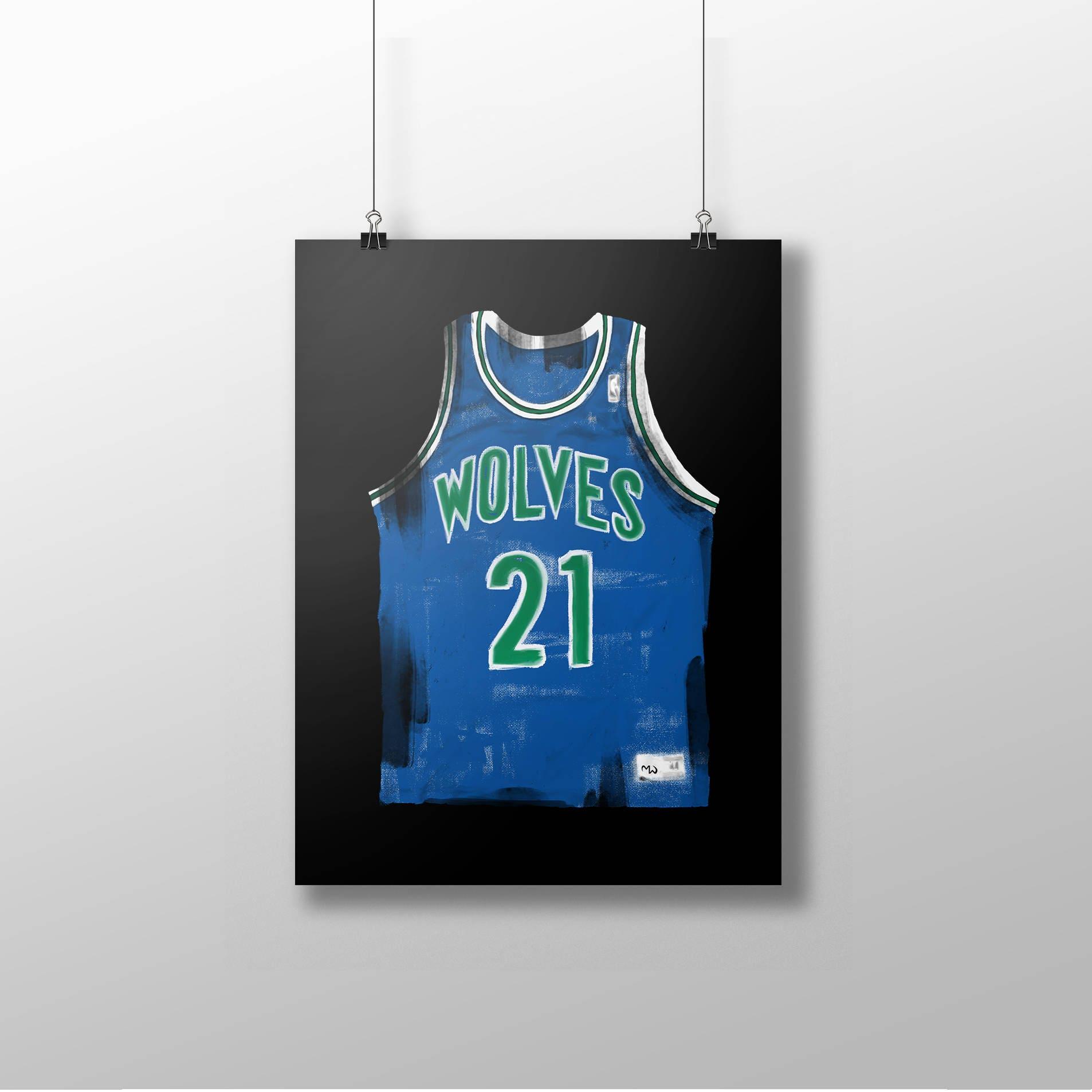 KEVIN GARNETT Plakat kg-Plakat Basketball-Kunst Jersey