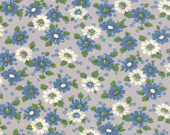 Moda blue and white floral fabric from the Purebred Collection by Erin Michael