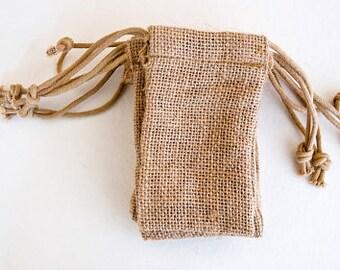 25 Small Burlap Wedding Favor Bags Quany 3x5