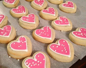 12 piece Valentine's Cookies