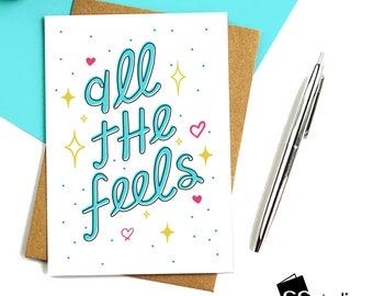 Funny Cards, All the Feels, Birthday Cards, Special Events, Cheeky Cards,Celebration,Humorous Greeting Cards,Blank Card,Funny Greeting Cards