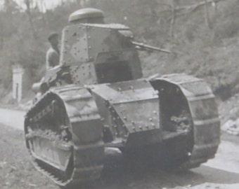 Vintage World War I Era 1910's Renault F-17 Light Tank Snapshot Photo - Free Shipping