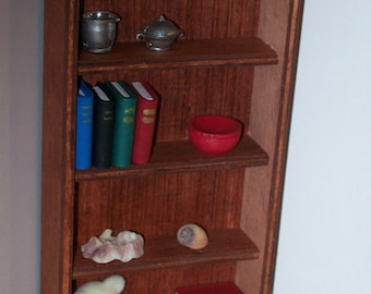 1:12 scale shelves/ 1 12 scale furniture/ 1 12 scale bookcase/ dollhouse miniature shelves/ 12th scale shelf/ one inch scale shelves display