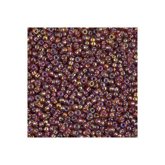 Miyuki M-11-1005 - 11/0 Silver Lined Dark Topaz AB Seed Bead 5 Grams