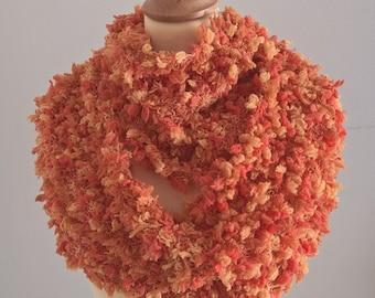 Knit Infinity Scarf Orange Yellow
