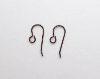 6 Pairs x 22mm Brass French Hook Ear Wires, Brass Ear Wires, Brass Hook Ear Wires, French Hook Ear Wires EAR0008