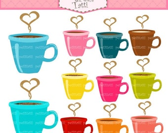 ON SALE coffee mug clip art - INSTANT Download Digital clip art, cafe clip art, mocha clipart, latte clipart, cappuccino, coffee cup clip ar