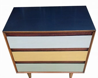Mid Century Painted Chest of Drawers