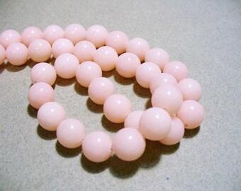 Jade Beads Round Light Pink 10MM