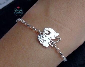 Lilo and Stitch Disney bracelet   Stitch bracelet   Sterling Silver Stitch bracelet   Ohana Stitch bracelet   Lilo and Stitch bracelet