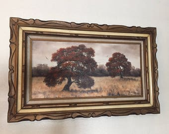 Vintage Original Oil painting by Evelyn Binion Texas Artist Framed Mid-Century ART