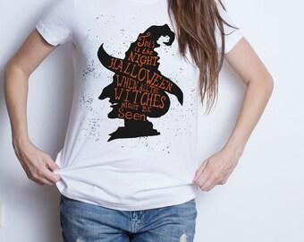 Halloween t shirt witch Halloween t shirt Halloween tshirt Halloween t-shirt. Witch with hat halloween gift