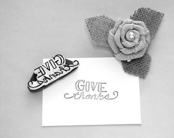 Give Thanks gratitude stamp