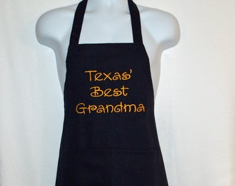 Texas Grandma Apron, Custom Any State, Personalize With Granny, Oma, Grams, Auntie, Pastor, No Shipping Fee, Ready To Ship TODAY, AGFT 865