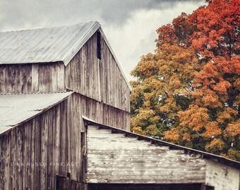 Fall Landscape Print, Farmhouse Decor, Barn Art, Country Print, Rustic Decor, Farmhouse Art, Autumn Home Decor, Farm Print, Barn.