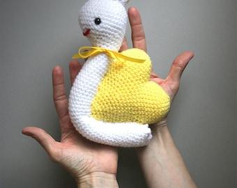 Snail heart handmade crochet plush toy doll