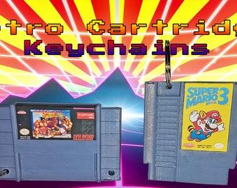 Nintendo - Nes & Snes Retro Cartridge Keychains