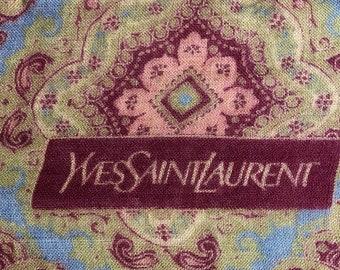 Yves Saint Laurent Ysl silk and wool vintage scarf vintage silk and wool scarf
