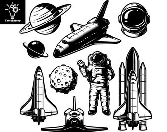 Space Themed Temporary Tattoo Outer Space Tattoo Astronaut Tattoo Saturn Tattoo Space Shuttle Tattoo Planet Tattoo Faux Tatouage Temporaire