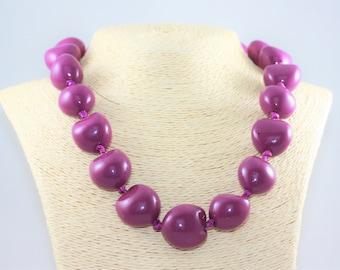 Purple Kukui Nut Lei | Natural Bright Colorful Island Pacific Unique Jewelry | La Isla Creations by Maribel