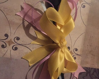Easter stacked boutique bow