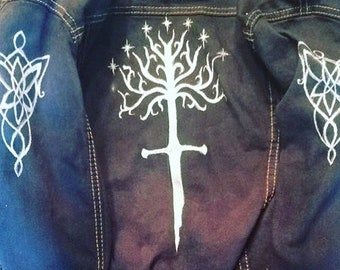 Hand Painted Lord Of The Rings Jacket