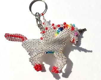 Winged Unicorn keychain - Handmade in Mexico