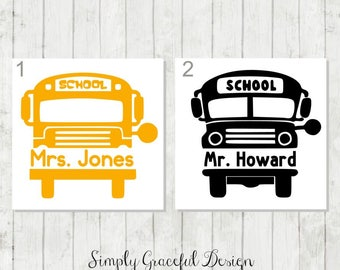 School Bus Decal, Personalized Bus Driver Decal, Bus Driver Appreciation Gift, School Bus Yeti Decal, Bus Drive Thank You , School Decal