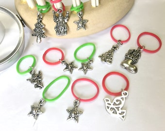 Christmas Loom Knitting Pattern 13 Stitch Markers | Snag Free Snug Fit - Specially Designed for Knitting Looms  | by Loomahat