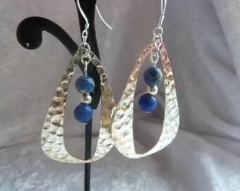 Genuine gems Jasper blue earrings