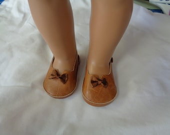 "Golden Brown 18"" Doll Sandals-Shown on my american girl doll"