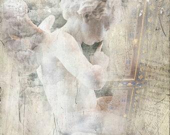 Bethesda, Cherubs, John 5, healing waters, angels, white,tan, beige, Child, shabby chic, paris, new york, cherub art, cherub decor, cupid