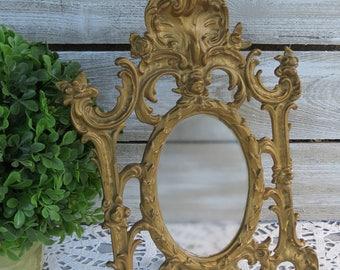 Antique Art Nouveau Easel Cast Metal Picture Frame - Ornate Victorian Picture Frame