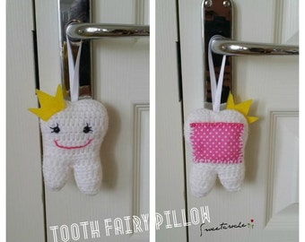 Crochet Tooth Fairy Pillow - MADE TO ORDER -