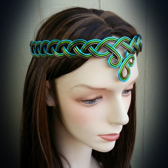Braided Celtic Circlet Hand Wire Wrapped Choose Your Own