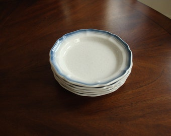 Mikasa COUNTRY CLUB French Blue Trim on Biscuit White Finish Salad Plate!