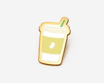 Coffee: Vanilla Bean Latte Hat/Lapel Pin