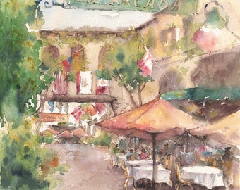 Fine art print. Santa Barbara downtown. California art