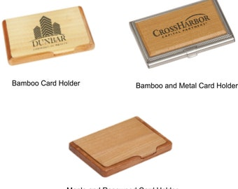 Bamboo business card etsy personalized engraved bamboo business card holder engraved card case hard card holder wood colourmoves Gallery
