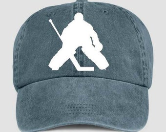 HOCKEY GOALIE Ice Sport Baseball Style Cap Hat