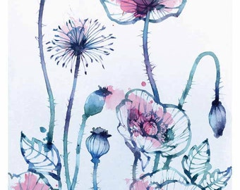 Poppies - A3 - GICLEE Fine Art Print - 11.5 x 16,5 inches