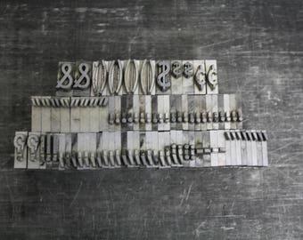 Vintage Metal Letterpress Type Punctuation Marks in 5/8 inch Type