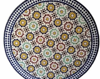 large handmade moroccan mosaic table