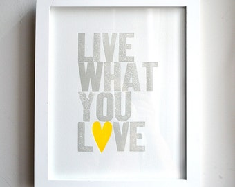 Live What You Love Special Edition Neon Yellow Heart - on sale!